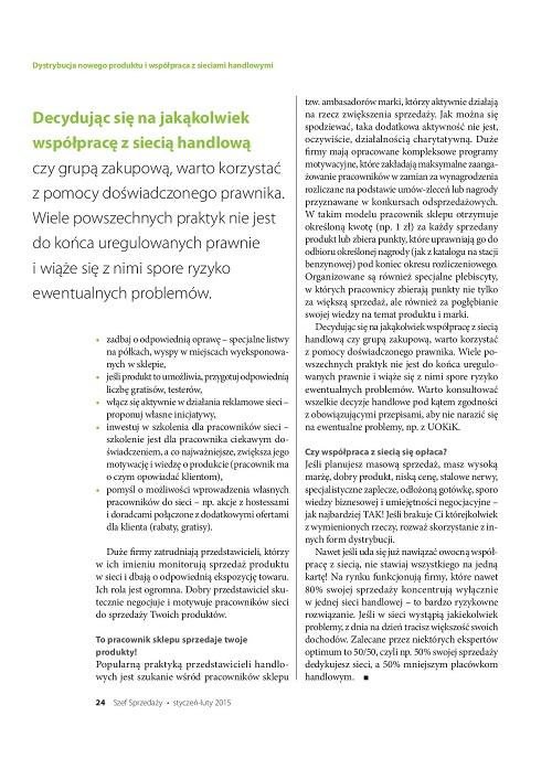 Dystrybucja nowego produktu i współpraca z sieciami handlowymi